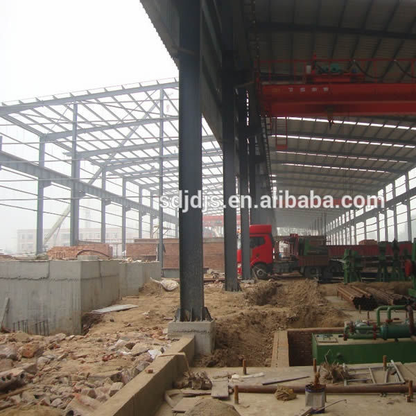 Multi-span portal frame steel structure building