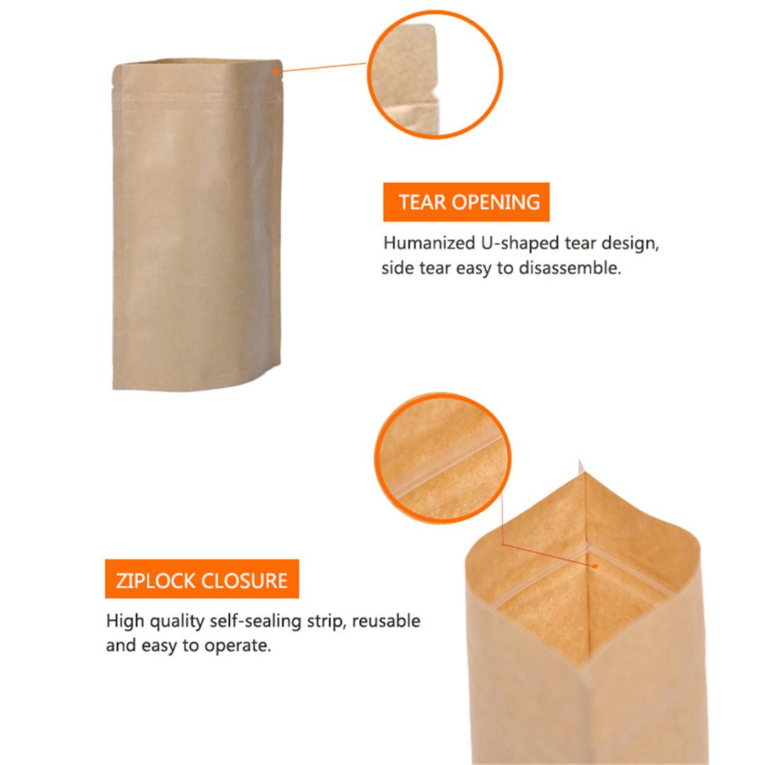 Kraft Paper Stand Up Pouch (3)