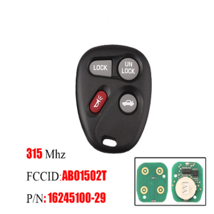4Buttons Remote Car key For Chevrolet ABO1502T 315Mhz for Buick Chevrolet Escalade Astro Blazer GMC Cadillac S-10 Truck