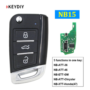 OEM/ODM Factory 2011 Toyota Camry Key Fob - NB15 Universal Multi-functional Remote Control Car Key for KD900 KD900+ URG200 KD-X2 Mini KD NB-Series (All Functions Chips in) – Wilongda