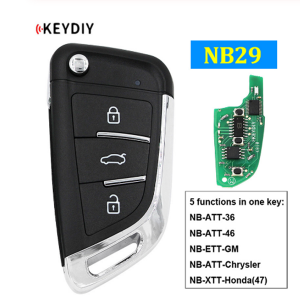 Factory Promotional Toyota Corolla Key Fob - NB29 Multi-functional Universal Remote Control Car Key for KD900 KD900+ URG200 KD-X2 NB Series KD Remote 5 Functions In One Key – Wilongda