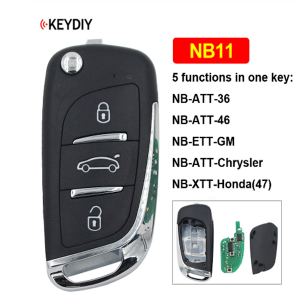 Factory directly supply Chrysler 200 Key Fob - NB11 Multi-functional 3 Button Universal KD Remote Control for KD900 KD900+ URG200 KD-X2 (All Functions Chips in One Key) – Wilongda