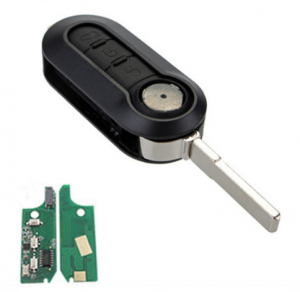 M.Marelli BSI System model 3 Buttons Remote Key Fob FSK PCF7946/PCF7946AT Chip 433MHz For Fiat 500 Grande Punto 2010-2017