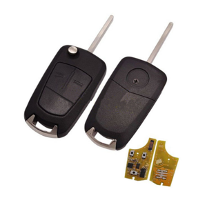 Car key 2 button remote control 434mhz PCF7946 chip HU100 blade For Opel Vectra Car Key