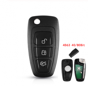 3 Buttons 434/433 Mhz FSK For Ford Mondeo Focus C-Max 2011 2012 2013 2014 Car Remote Control Key 4D63 Chip 40/80 Bit