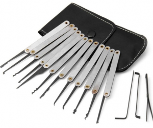 GOSO 12 Pieces Lock Pick Set with Leather Case
