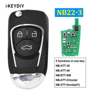 Factory Price For Key Fob Programming Machine - NB22-3 Multi-functional Universal Remote Control Car Key for KD900 KD900+ URG200 KD-X2 Mini KD (All Functions Chips in) – Wilongda
