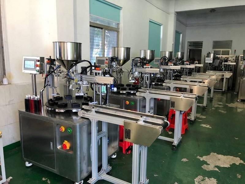 Factory source Automatic Alcohol Filling Machine - Rotary Type Filling and Capping Machine  HX-006FC – HX Machine detail pictures