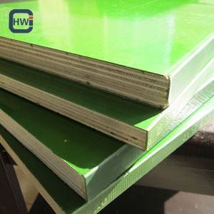 China Cheap price Shuttering Film Faced Plywood – HW 1220*2440*18mm High Quality Durable Green Plastic Faced Plywood – Changyu