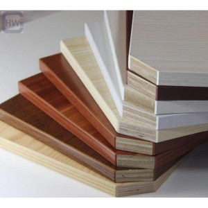 HW 1220mmx2440mm High Grade Melamine Faced Plyw...