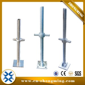 Adjustable Solid and Hollow Screw Jack Base for Scaffolding System