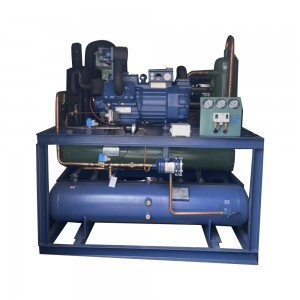 30hp open type large refrigerator chiller screw compressor unit