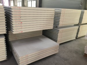 50mm75mm insulated polyurethane pu sandwich panel wall for cold room