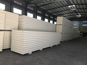 PU insulation material stainless steel sheet sandwich panel 200mm/100mm/75/mm