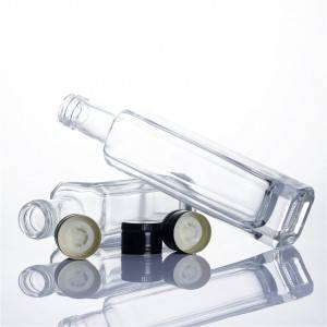 China clear olive oil glass bottles with screw lid