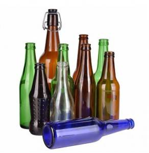Wholesale Most popular clear drink 250ml 330ml transparent glass beer bottle