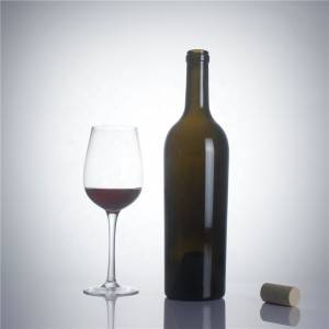 High-quality burgundy screw cap wine glass bottle