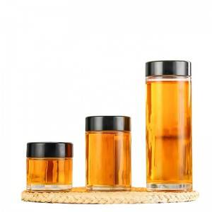Glass storage for honey jam sauce