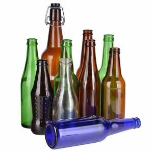 Customized various high beer bottle different color beer glass bottle