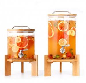 2 Gallon 8L big volume juice glass dispenser