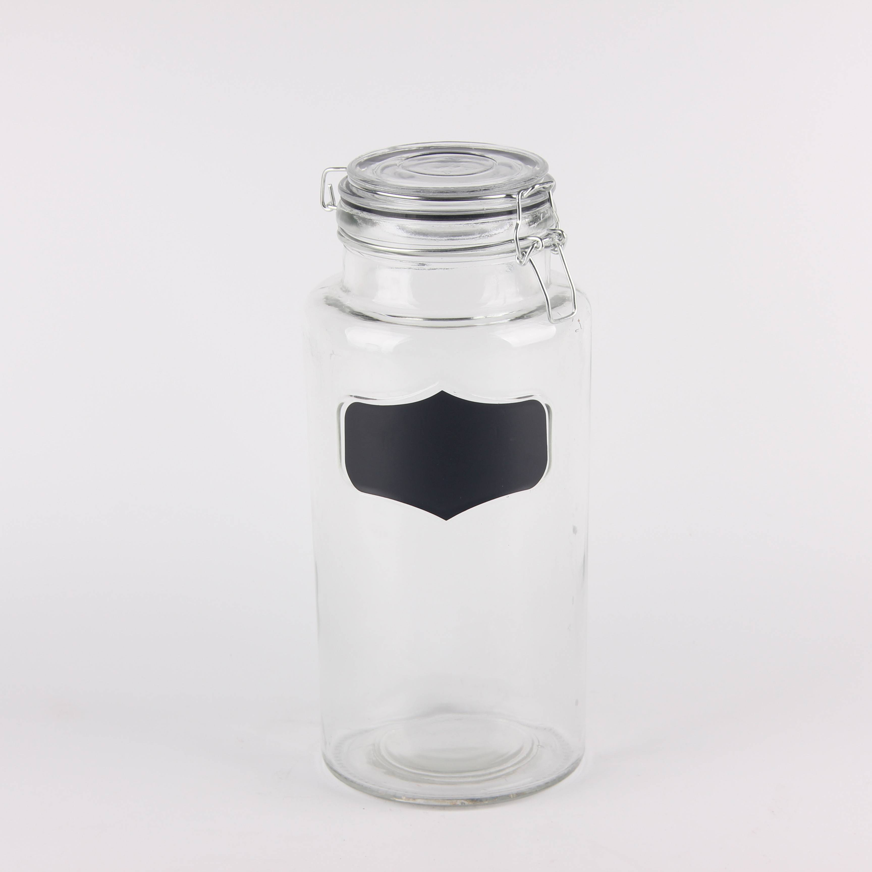 Clear glass round Jars swing top Lid Featured Image