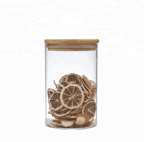 High borosilicate glass honey jar