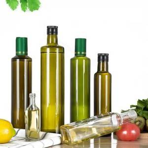 Free sample olive oil bottle