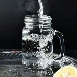 Resistant glass food mason Jar