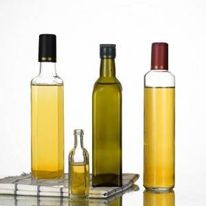 Factory customized glassware olive oil glass bottle
