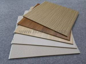 600mm*9mm decorative wpc wall panels pvc decorative wall board for home or hotel