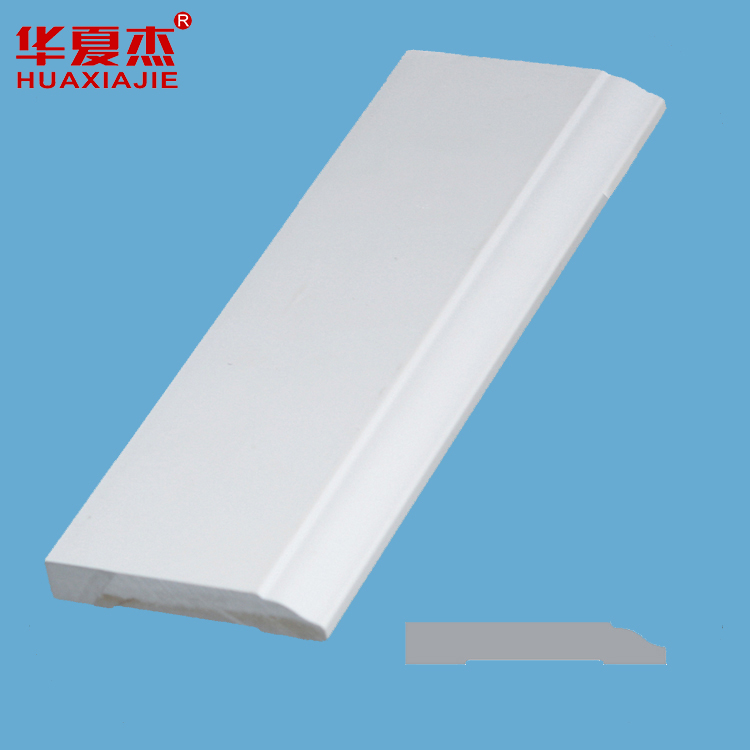 China Cheap price Slotted Groove Mdf Board - Flat Utility Trim White PVC trim moulding plastic door Profiles – Huaxiajie