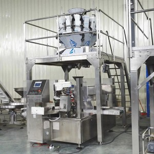 Granola oats cereal corn flakes rotary packing machine with multihead weigher