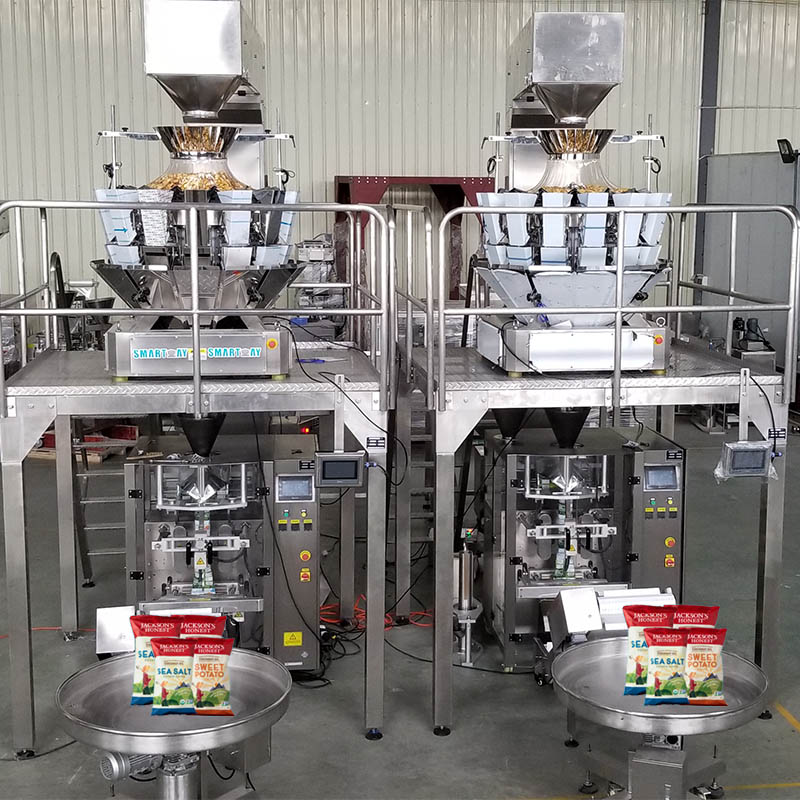 OEM Supply Mini Pouch Packing Machine - Snack potato chips packing machine system – Smart Weigh Featured Image