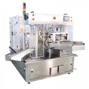 Rotary pouch packing machine 8 working station