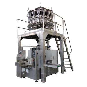 Snack chocolate stick packing machine vertical weighing filling multihead weigher