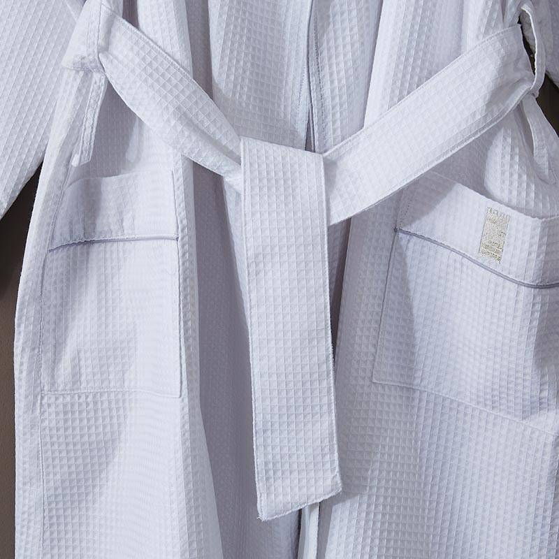 Massive Selection for Hotel Collection Linen Sheets - Adult Waffle Bathrobe – Spring-Tex detail pictures