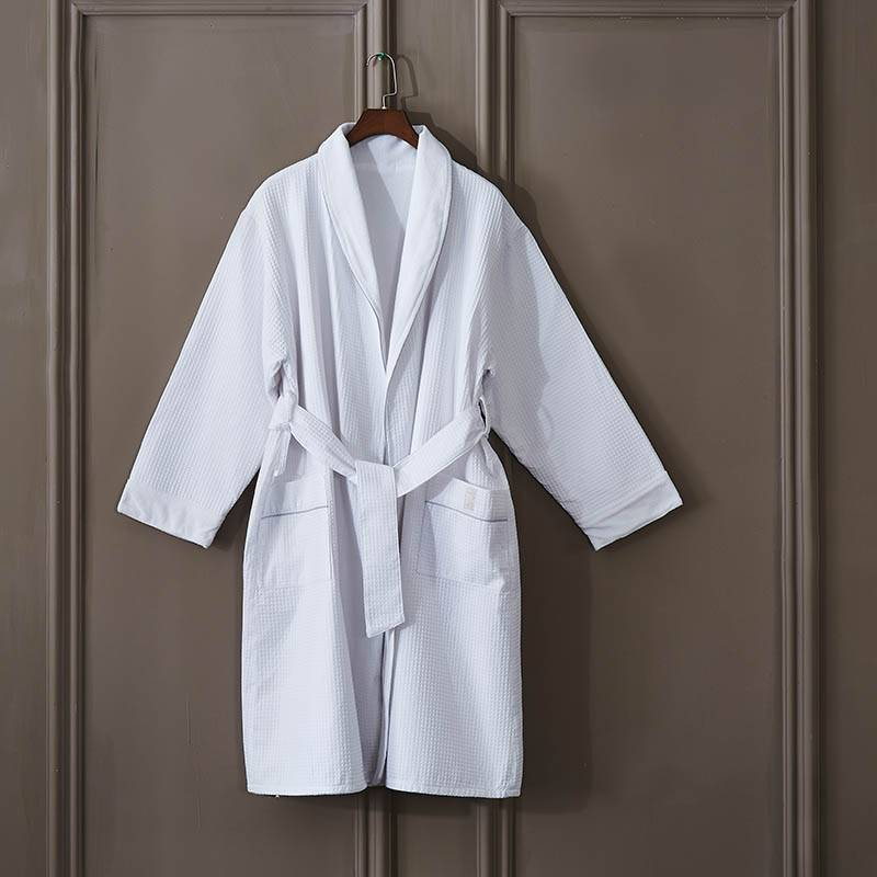 100% Original Factory White Hotel Duvet Cover - Adult Waffle Bathrobe – Spring-Tex