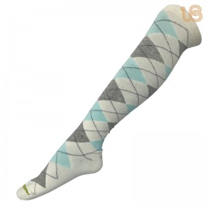 Women's Argyle Knee High Causal Socks