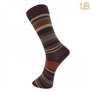 Men Comb Cotton Stripe Sock – Mens Cotton Dress Socks | Mens Striped Socks