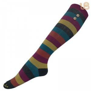 Women Stripe Over Knee Sock/Womens Over The Knee Socks Manufacturer