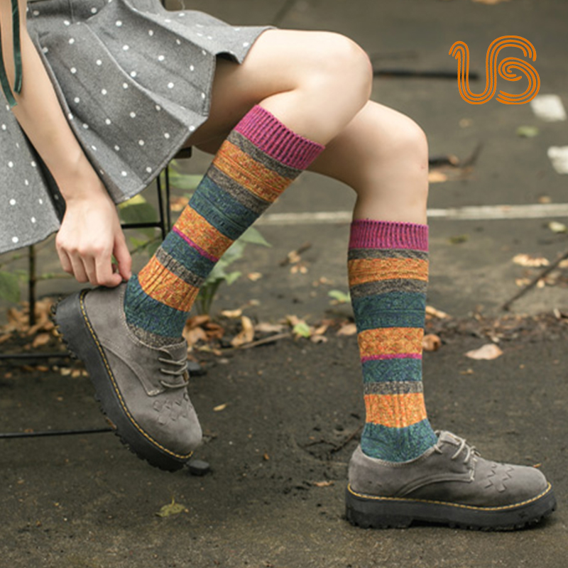 Women Thick Warm Knee High Sock Colorful Knee High Socks Supplier Featured Image