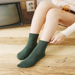 Women Solid Color Sock