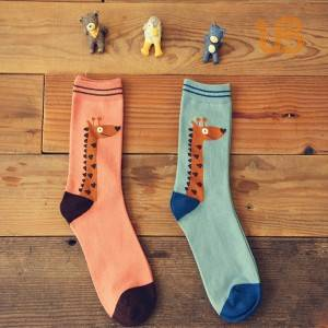 Women Pattened Cotton Sock