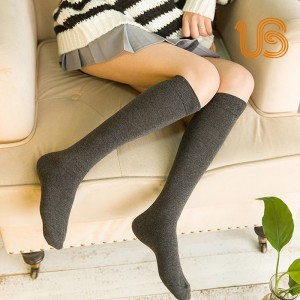 Women Solid Color Knee high Sock