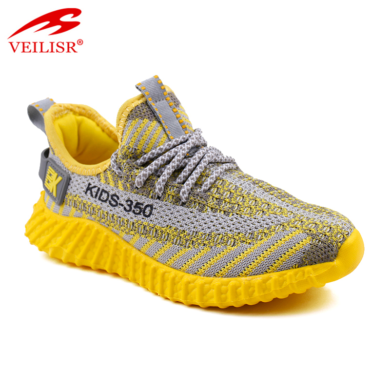 New design knit fabric children casual shoes sneakers kids
