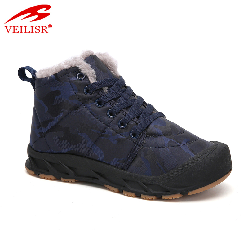 Zapatos waterproof cloth children winter casual shoes kids boots
