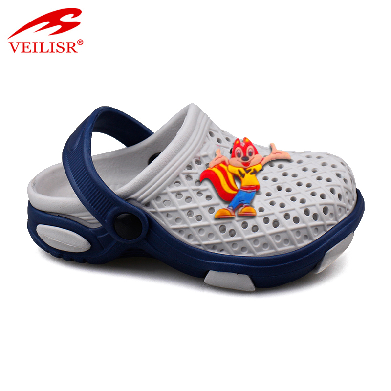 Outdoor summer beach carton children holey EVA sandals kids clogs