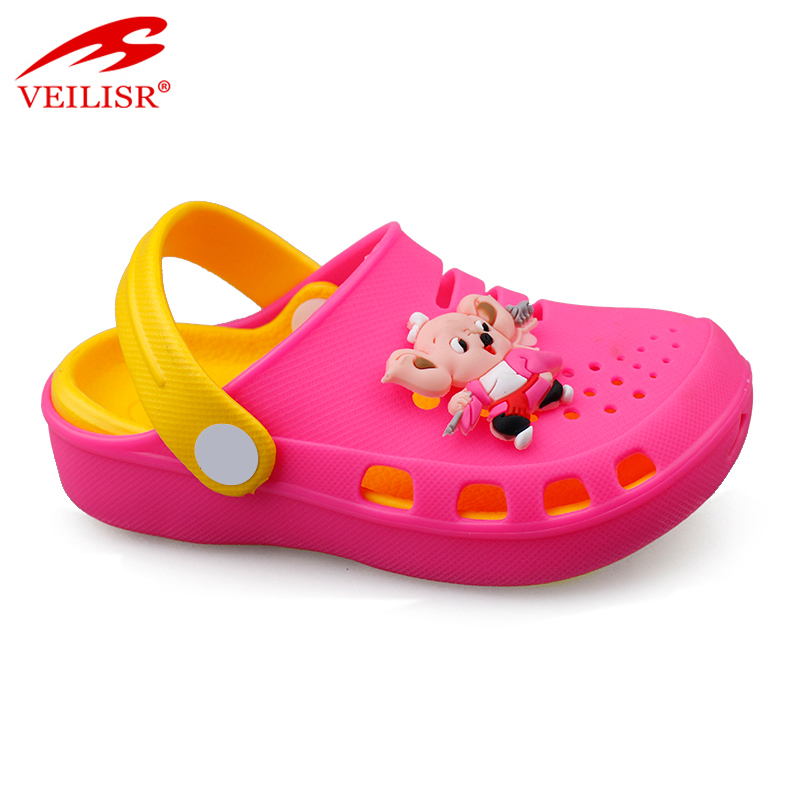 Outdoor summer beach silicone children sandals garden kids clogs