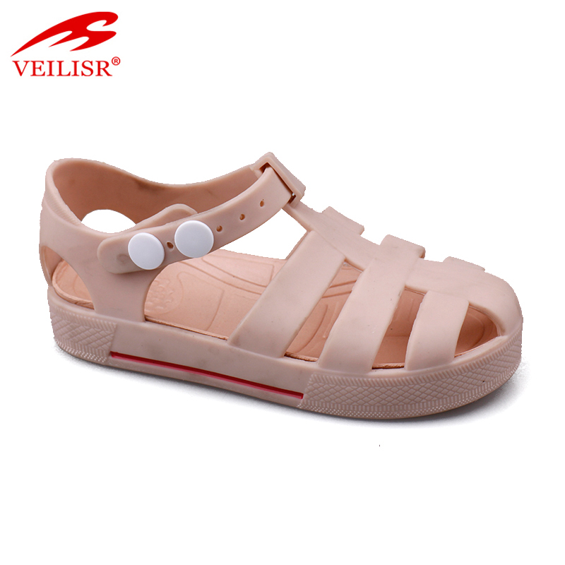 Outdoor summer beach PVC jelly shoes children kids sandals
