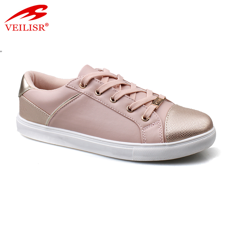 Outdoor summer PU upper ladies fashion sneakers women casual shoes